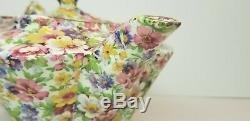 Vintage James Kent Ltd. Fenton Du Barry Floral Chintz Tea Set Teapot Creamer