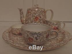 Vintage James Kent Pearl Delight Chintz Breakfast Set Teapot Tea For One
