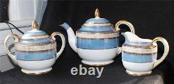 Vintage NORITAKE Japan Porcelain Hand Painted Set Teapot Sugar Bowl Lid Creamer