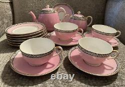 Vintage Noritake Childs Tea Set (6 Plates 5 Saucers 4 Cups Sugar Teapot)