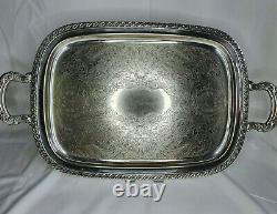 Vintage Oneida Silver Plated Tea Set Coffee Pot Teapot Sugar Bowl Milk Jug Tray