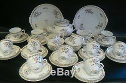 Vintage ROYAL GRAFTON Floral Spring China Tea Set 40 Pieces Teapot Cups Saucers