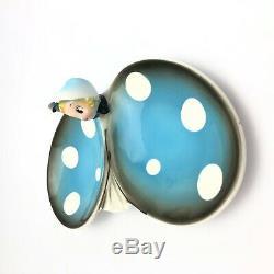 Vintage Rare 1950s Anthropomorphic Ladybug Candy / Nut Dish Northern Imports