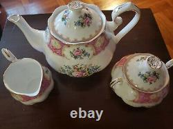 Vintage Royal Albert Lady Carlyle Porcelain Bone China 5pc. Teapot Set