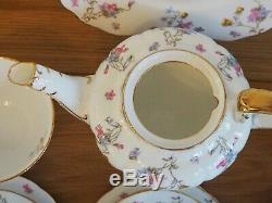 Vintage Royal Stafford Violets Pompadour Tea Service Set Teapot