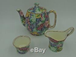 Vintage Royal Winton Chintz Julia Breakfast Set Tea for One Teapot