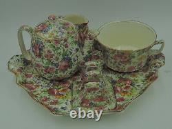 Vintage Royal Winton Chintz Summertime Breakfast Set Tea For One Countess Teapot