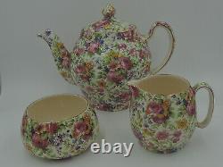 Vintage Royal Winton Chintz Summertime Tea Set Teapot 1950's
