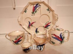 Vintage Royal Winton Delphinium Breakfast Set Tea for One Teapot