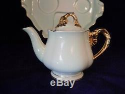 Vintage Royal Winton GrimWades Golden Hibiscus Breakfast Set Teapot Tea For One