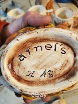 Vintage Set Arnels Mushroom Carafe Teapot Mugs Butter Dish Gravy Boat RARE