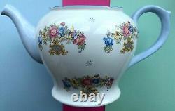 Vintage Shelley China Sheraton & Grey Crystals Large Tea Set Teapot & Lid 2323