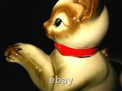Vintage Siamese Cat Teapot Sugar Creamer Set Kittens Made in Japan Art Pottery