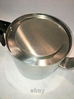 Vintage Stelton Stainless Steel Cylinda Line Teapot Designed by ARNE JACOBSEN