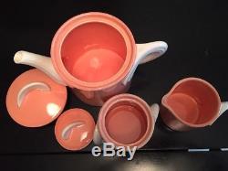 Vintage Teapot Set Pink Fujimori Collection Society Kato Kogei Japan Rare 80's