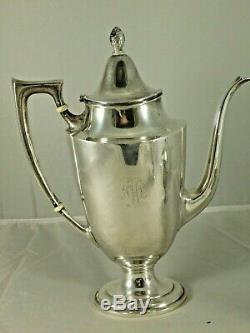 Vintage Towle Lafayette Sterling Silver Set Tea Pot Creamer & Sugar 5580