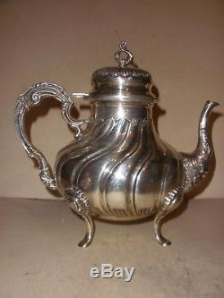 Vintage beautiful tea set teapot Tane JRC sterling silver Mexico Mexican heavy