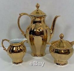 Vintage tea set gold plated waldsassen bavaria germany set