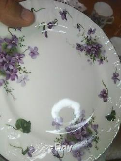 Vtg Victorian Violets Hammersley Service for 8 Spode Teapot 51 pc. Set Porcelain