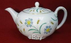WEDGWOOD china WHEATEAR W4051 21-pc Tea Dessert Set Teapot cup saucer bread+