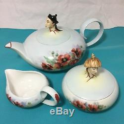 WIEN Augarten Vienna Orient Chinese Qing Dynasty Tea Service Set Teapot Signed