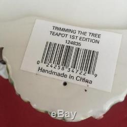 Waterford Holiday Heirlooms Trimming The Tree Teapot 1st Ed 2758/5000