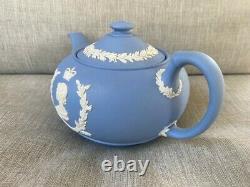 Wedgewood Blue Queen Elizabeth II & Prince Philip Coronation Teapot