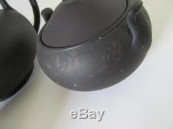 Wedgwood Black Basalt Teapot Set