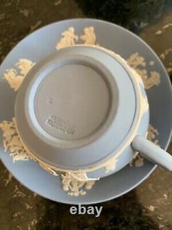 Wedgwood Blue Jasperware Teapot and teacup set of 16 cup saucer 2 bowls