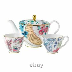 Wedgwood Butterfly Bloom Teapot, Sugar and Cream Set 232575G