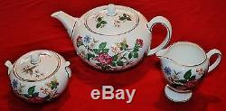 Wedgwood Charnwood Teapot Set White Bone China Butterfly/Florals WD3984 Set 3