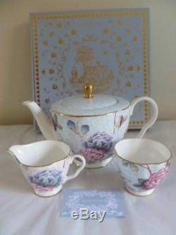 Wedgwood Cuckoo Tea Story Large Teapot Sugar & Cream Set New Unused Boxed
