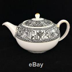 Wedgwood Florentine Black Dragons Motif Coffee Tea Set Teapot Sugar Creamer W431