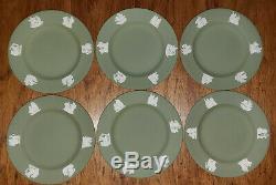 Wedgwood Jasperware Green Tea Set 22 Piece Teapot Cups Saucers Plates Beautiful