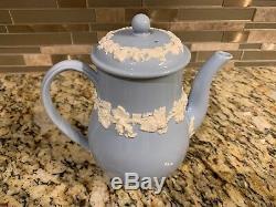 Wedgwood Queensware Lavender / Light Blue Tea Set / Teaset Teapot Cream Sugar