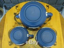 Wedgwood Royal Jasper Queen Elizabeth II Coronation Tea Set, Teapot Bowl Creamer