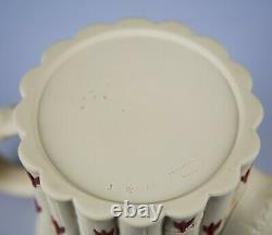 Wedgwood Terra Cotta on Primrose Jasperware Tea Set Teapot Creamer & Sugar Bowl