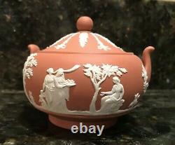 Wedgwood Terracotta Jasperware Tea Set Pot/Sugar/Creamer