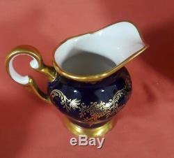 Weimar Katharina Pattern Cobalt Blue Tea Set Teapot Creamer Sugar