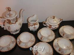 White and Gold Mitterteich BavariaFull Set6 cups & saucers, teapot, etc 038