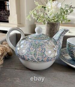 William Morris Pimpernel Fine China Tea For One Set Teapot Teacup Gift set